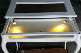 LEDスポットライト点灯